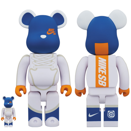 BE@RBRICK NIKE SB WHITE 100% & 400%