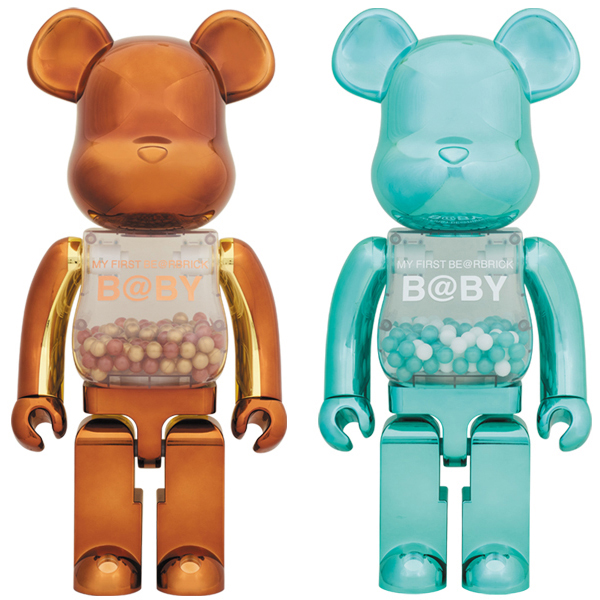 MY FIRST BE@RBRICK B@BY Steampunk Ver./Turquoise Ver.1000%
