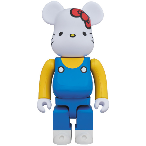 BE@RBRICK 400% HELLO KITTY(青オーバーオール版)