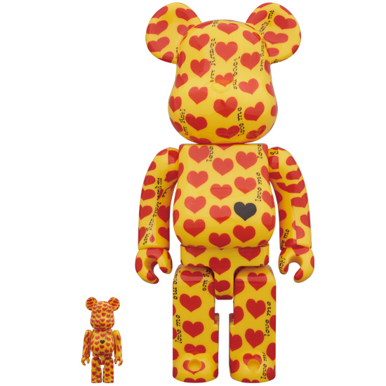 BE@RBRICK Yellow Heart 100% & 400%