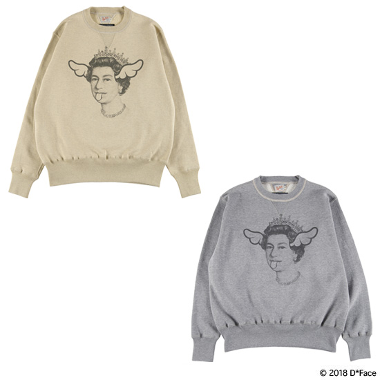 "CREW NECK SWEAT ""QUEEN"" × TOYS McCOY"
