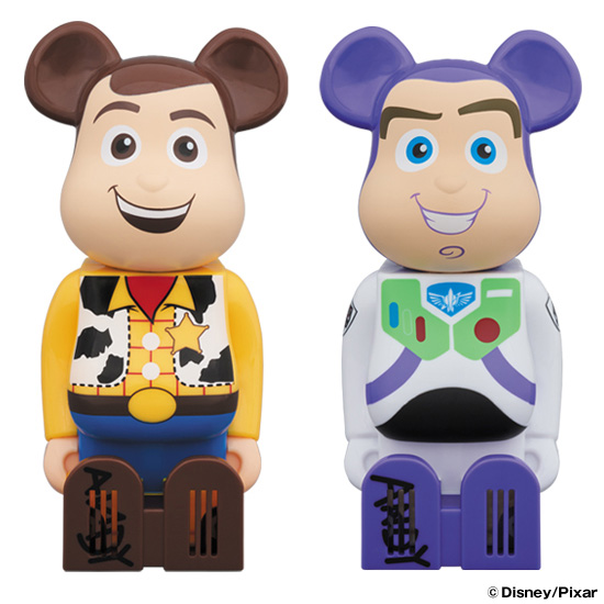 Cleverin BE@RBRICK WOODY/BUZZ LIGHTYEAR