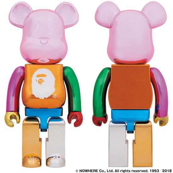 A BATHING APE® 25th ANNI. MULTI COLOR BE@RBRICK 1000%