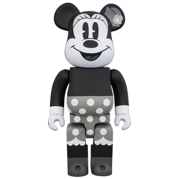 BE@RBRICK MINNIE MOUSE (B&W Ver.) 400%