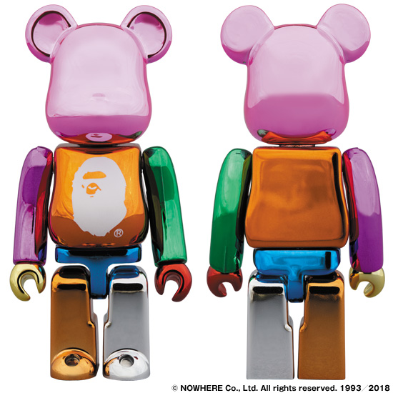 A BATHING APE® 25th ANNI. MULTI COLOR BE@RBRICK 100%