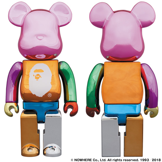 A BATHING APE® 25th ANNI. MULTI COLOR BE@RBRICK 400%