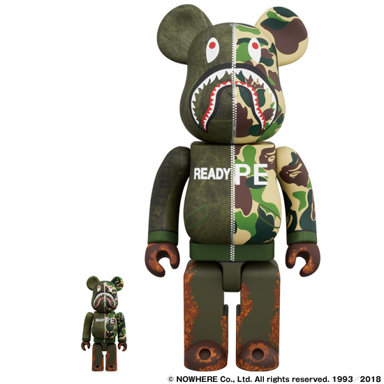BE@BRICK READYMADE x A BATHING APE® 100% & 400%