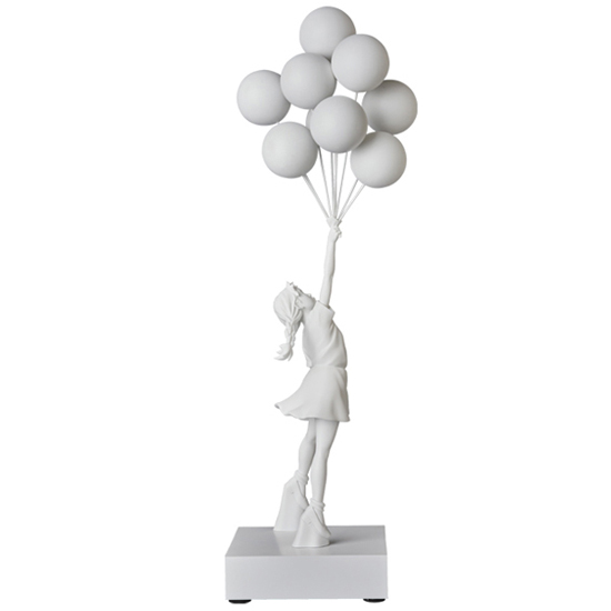 Flying Balloons Girl