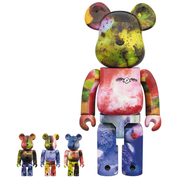 BE@RBRICK PUSHEAD 3 different colors 100% & 400% 4 PC SET