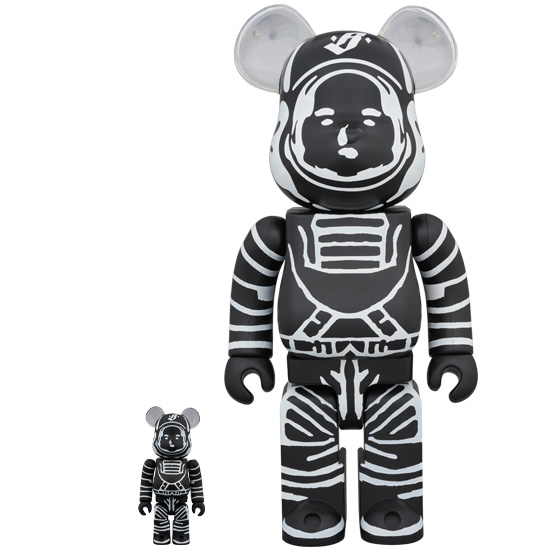 BE@RBRICK BILLIONAIRE BOYS CLUB ASTRONAUT BLACK 100% & 400%