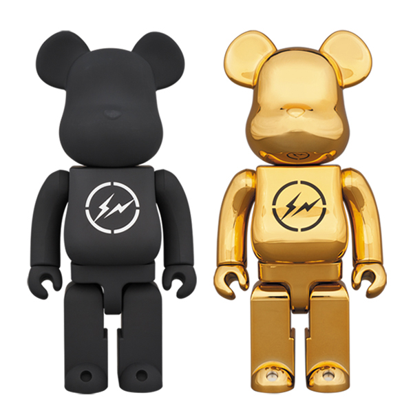 BE@RBRICK THE CONVENI × fragmentdesign 400% BLACK/GOLD