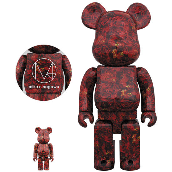 BE@RBRICK M / mika ninagawa LEATHER ROSE 100% & 400%