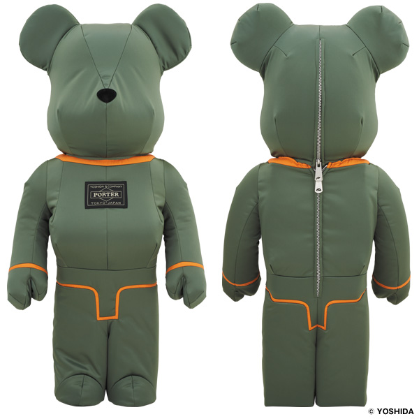 PORTER×BE@RBRICK 1000% TANKER SAGE GREEN Special Edition