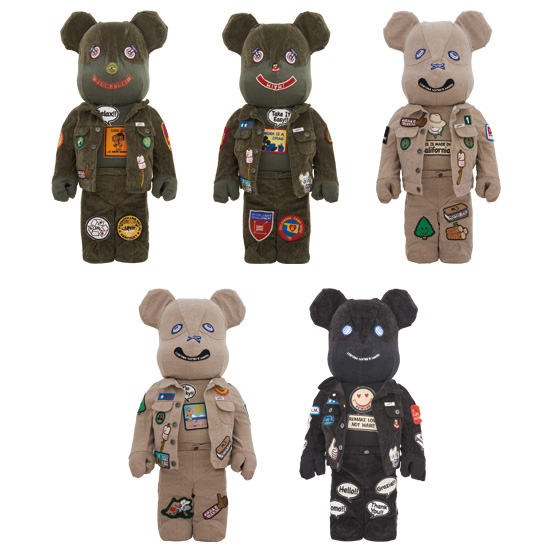 DR × ROMANELLI × GUESS ONE OF KIND COLLECTION BE@RBRICK 1000%