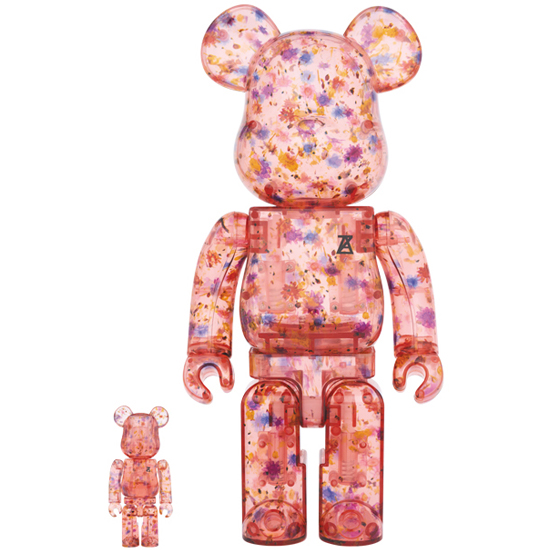 BE@RBRICK ANREALAGE(CLEAR RED Ver.)100% & 400%