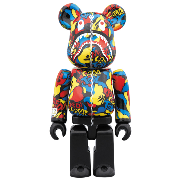 MEDICOM TOY CAMO SHARK BE@RBRICK 100%
