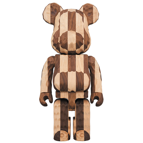 BE@RBRICK カリモク fragmentdesign 400% carved wooden - LONGITUDINAL CHESS