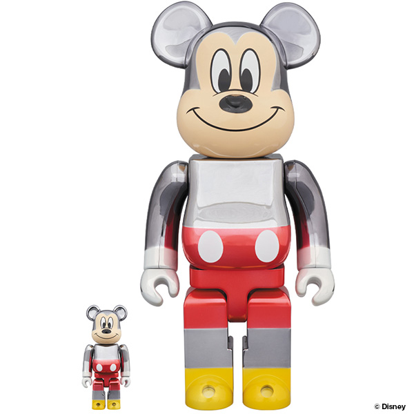BE@RBRICK fragmentdesign MICKEY MOUSE COLOR Ver.100% & 400%