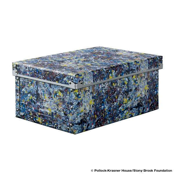 "SMALL FIBER BOX ""JACKSON POLLOCK STUDIO"" made by ADACHISHIK"