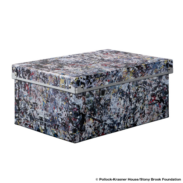 "SMALL FIBER BOX ""JACKSON POLLOCK STUDIO 2"" made by ADACHISHIKI"