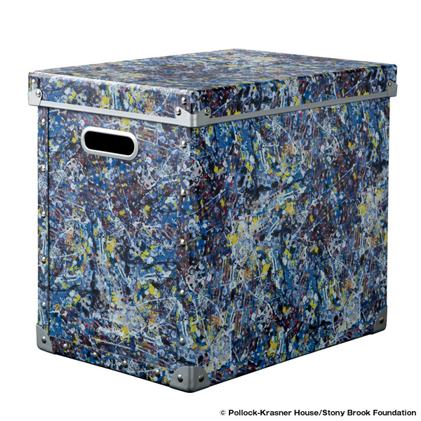 "LARGE FIBER BOX ""JACKSON POLLOCK STUDIO"" made by ADACHISHIKI"