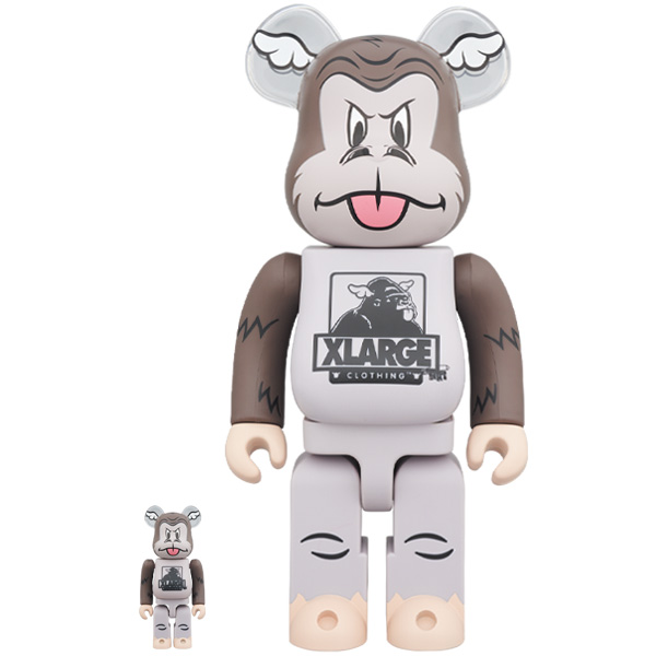 BE@RBRICK XLARGE × D*Face 100% & 400% BROWN