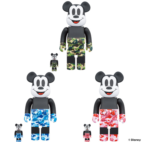 BE@RBRICK BAPE® MICKEY MOUSE 100% & 400%