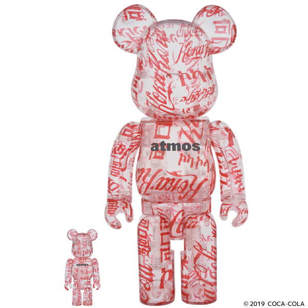 BE@RBRICK atmos × Coca-Cola 100% & 400% CLEAR BODY Ver.