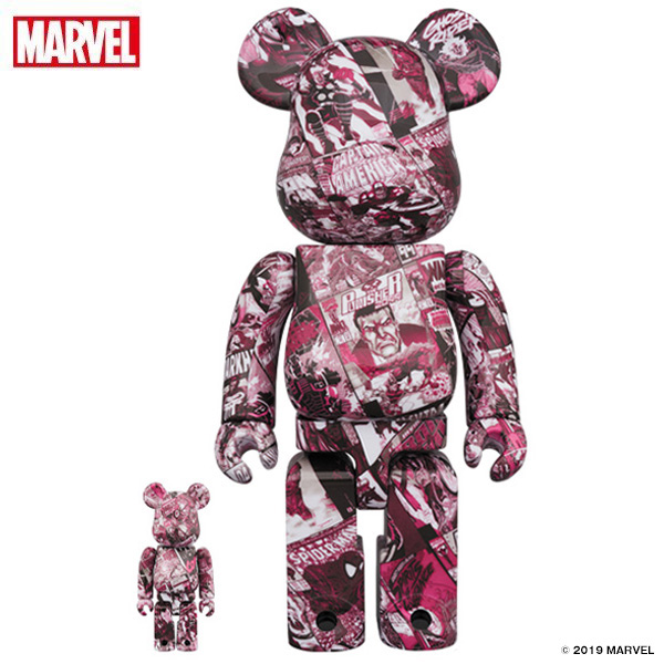 BE@RBRICK MARVEL 80TH ANNIV.100% & 400%