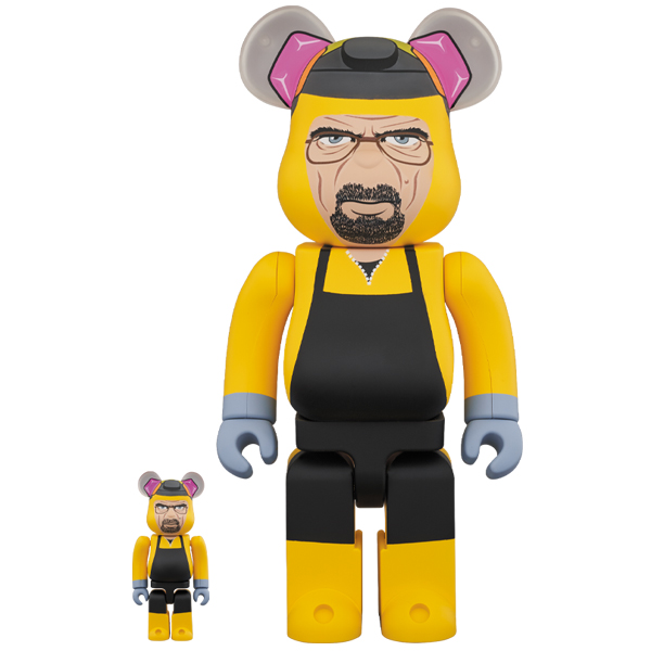 BE@RBRICK Breaking Bad Walter White (Chemical Protective Clothing Ver.) 100% & 400%