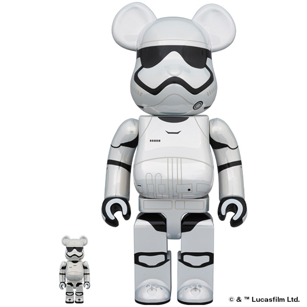限定品発売のお知らせ(BE@RBRICK STAR WARS(TM) KYLO REN(TM)  Chrome Ver.100% & 400%,BE@RBRICK STAR WARS(TM) FIRST ORDER STORMTROOPER(TM)  Chrome Ver. 100% & 400%)/2月22日(土)12時より