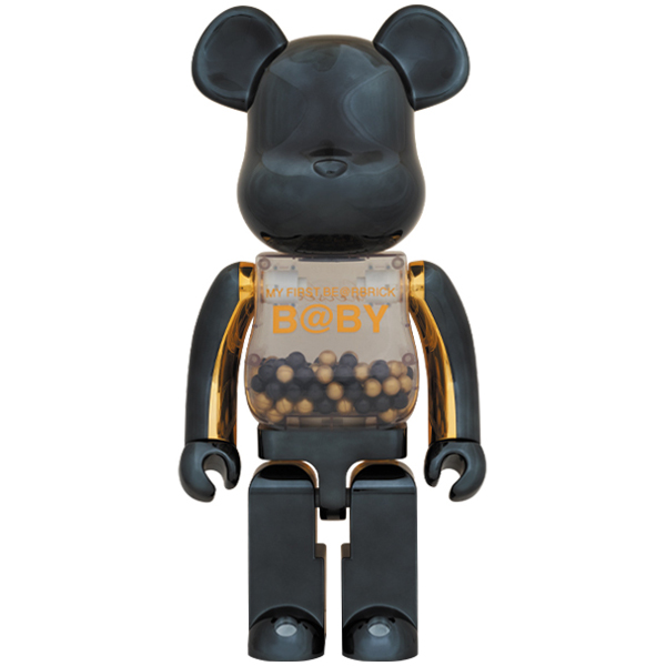 MY FIRST BE@RBRICK B@BY innersect BLACK & GOLD Ver.1000%