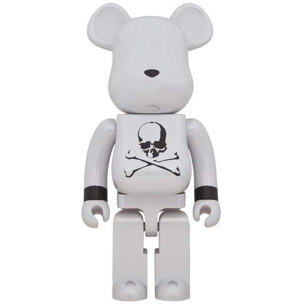 BE@RBRICK mastermind JAPAN WHITE CHROME Ver. 1000%