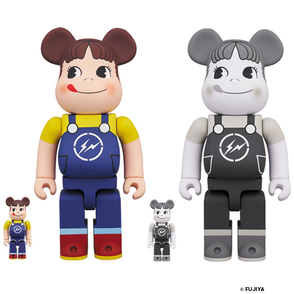 MILKY THE CONVENI PEKO BE@RBRICK 100% & 400% COLOR/BLACK