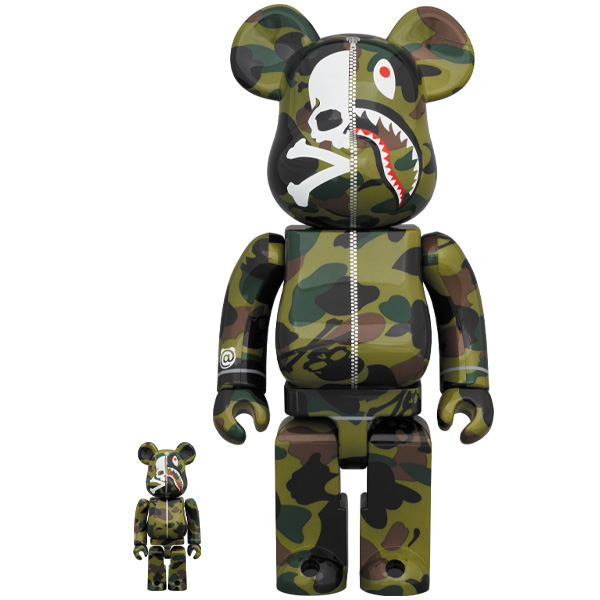 MASTER MIND VS BAPE(R) BE@RBRICK 100%&400% (GREEN) /2月22日(土)より