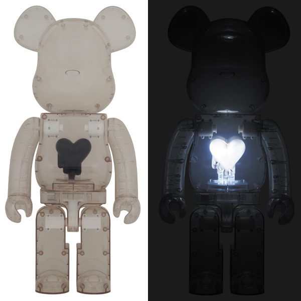 BE@RBRICK EMOTIONALLY UNAVAILABLE Black Heart 1000%