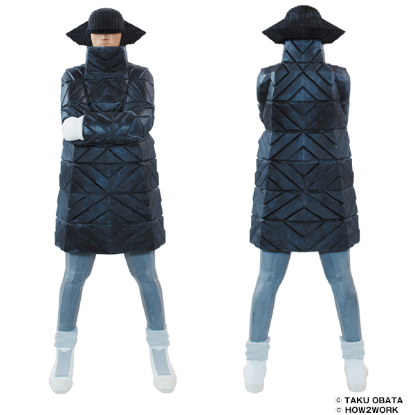 B-GIRL Down Jacket NAGAME BLACK