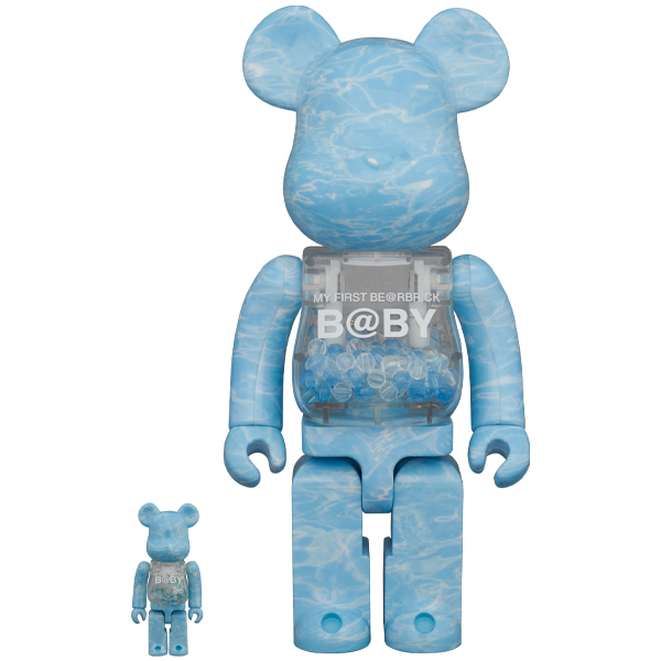 MY FIRST BE@RBRICK B@BY WATER CREST Ver.100% & 400%