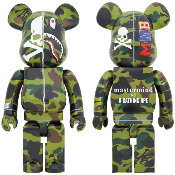 mastermind VS BAPE®️ BE@RBRICK 1000% (GREEN)