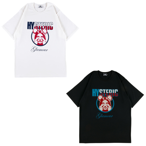 BE@RTEE HYSTERIC GLAMOUR BE@R & GIRL'S FACE 2020 白/黒
