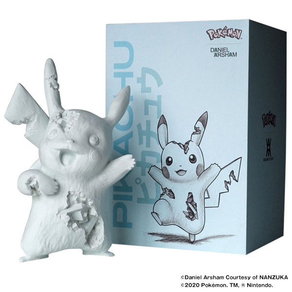 Daniel Arsham Blue Crystalized Pikachu Resin and pigment
