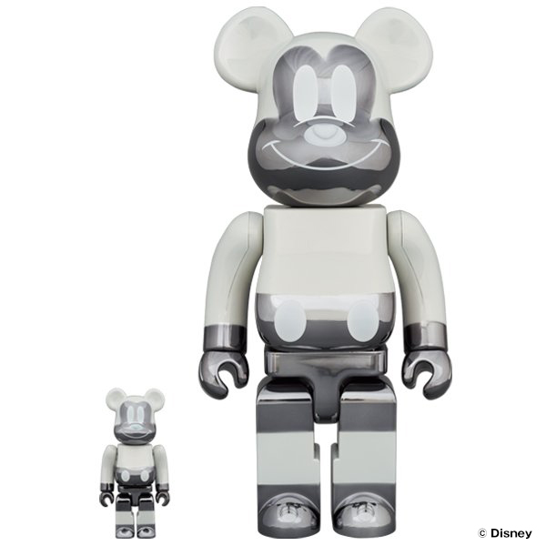 BE@RBRICK fragmentdesign MICKEY MOUSE REVERSE Ver. 100% & 400%