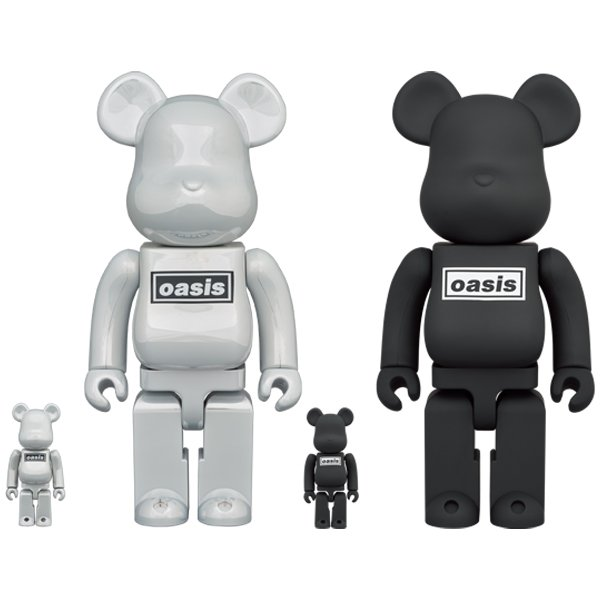 BE@RBRICK OASIS 100% & 400% WHITE/BLACK