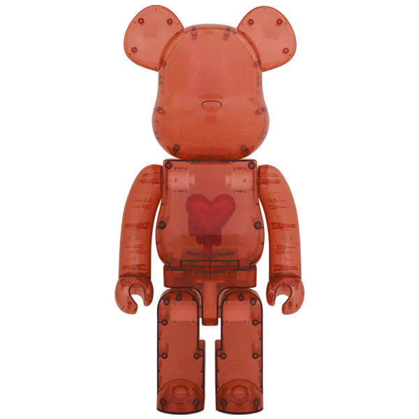 BE@RBRICK Emotionally Unavailable Clear Red Heart 1000%