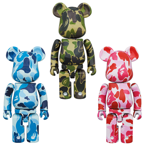 超合金 BE@RBRICK ABC CAMO GREEN/BLUE/PINK