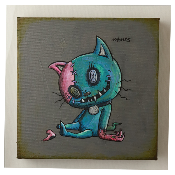 "phantom cat BUTOON ""BLUE PINK"""