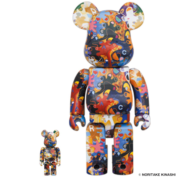 BE@RBRICK 木梨憲武《のっ手いこー!REACH OUT》100% & 400%