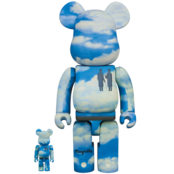 "BE@RBRICK Rene Magritte ""La Reconaissance Infinie (Infinite Recognition) 1963/The Castle of the Pyrenees"" 100% & 400%"