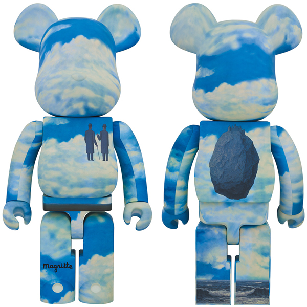 "BE@RBRICK Rene Magritte ""La Reconaissance Infinie (Infinite Recognition) 1963/The Castle of the Pyrenees"" 1000%"