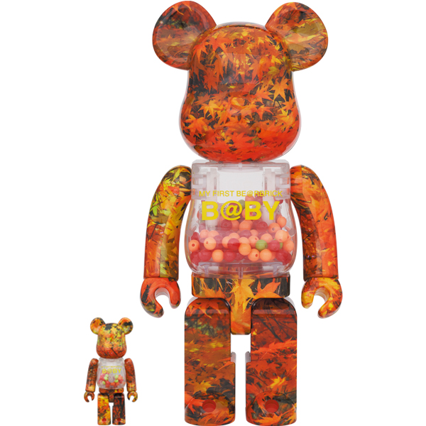 MY FIRST BE@RBRICK B@BY AUTUMN LEAVES Ver.100% & 400%